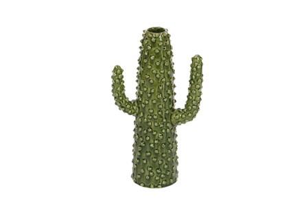 12 Inch Textured Cactus Vase