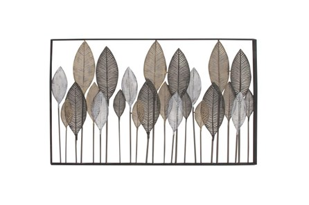 37 Inch Steel Leaf Wall Decor