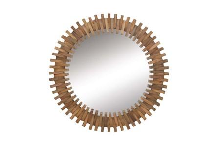 35 Inch Wood Gear Wall Mirror