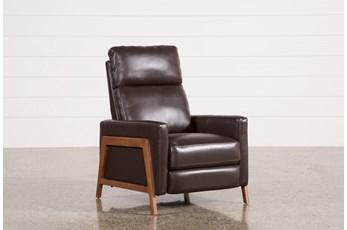 Daniel Chocolate Leather Pressback Recliner