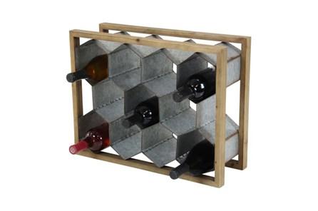 15 Inch Mixed Media Wine Holder