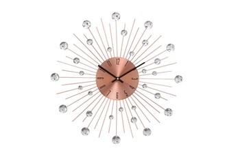20 Inch Acrylic Metallic Brown Wall Clock