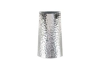 14 Inch Silver Textured Vase