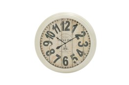 37 Inch Vintage Port White Wall Clock