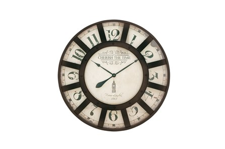 32 Inch Cherish The Time Wall Clock