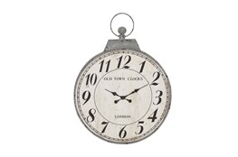 38 Inch Old Town Grey Wall Clock