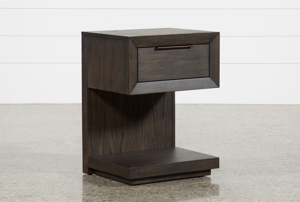 """Pierce 1-Drawer 29"""" Nightstand With USB and Power Outlets"""
