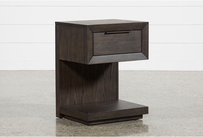 """Pierce 1-Drawer 29"""" Nightstand With USB and Power Outlets - 360"""