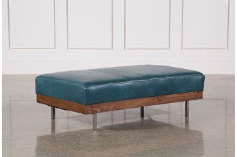Gregory Leather Ottoman