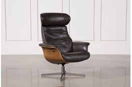 Amala Dark Grey Reclining Swivel Chair