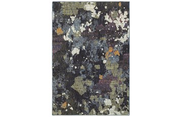 63X87 Rug-Marshall Blue And Fern