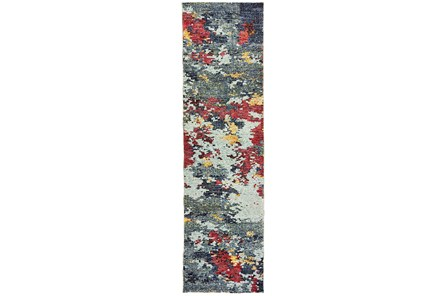 27X96 Rug-Marshall Blue And Berry