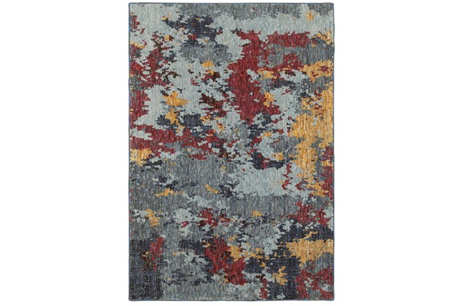 63X87 Rug-Marshall Blue And Berry - 360