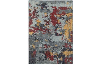 94X130 Rug-Marshall Blue And Berry