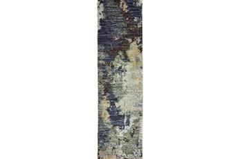 27X96 Rug-Marshall Steel Blue