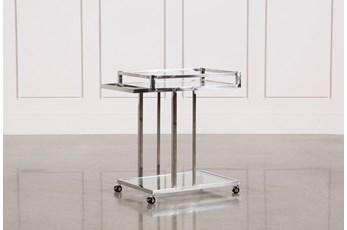 Metal And Glass Bar Cart