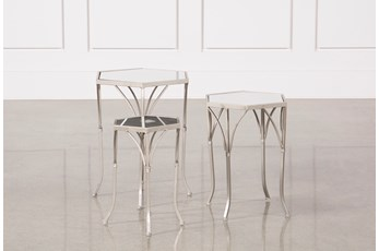 3 Piece Mirror Accent Tables
