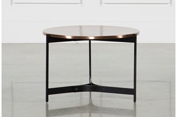 Copper Metal Side Table