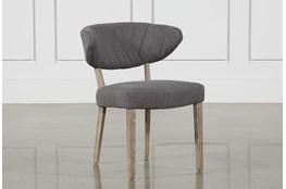Grey Diamond Tuft Side Chair