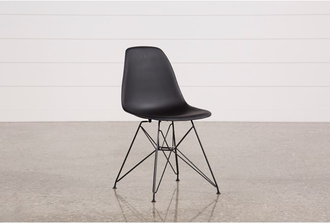 ALEXA BLACK SIDE CHAIR - 360