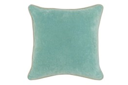 Accent Pillow-Robins Egg Washed Velvet 18X18