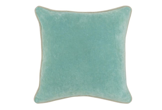 Accent Pillow-Robins Egg Washed Velvet 18X18 - 360