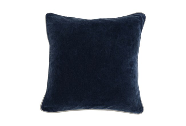 Accent Pillow-Navy Blue Washed Velvet 18X18 - 360