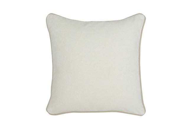 Accent Pillow-Ivory Washed Velvet 18X18 - 360