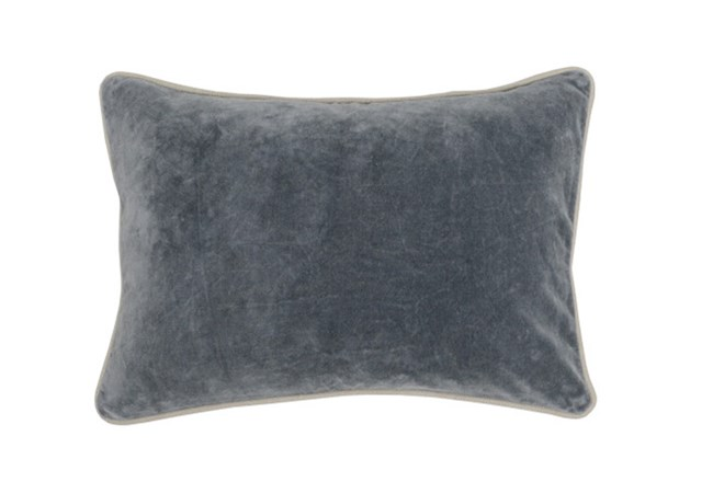 Accent Pillow-Steel Grey Washed Velvet 20X14 - 360