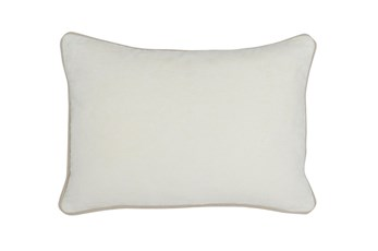 Accent Pillow-Ivory Washed Velvet 20X14