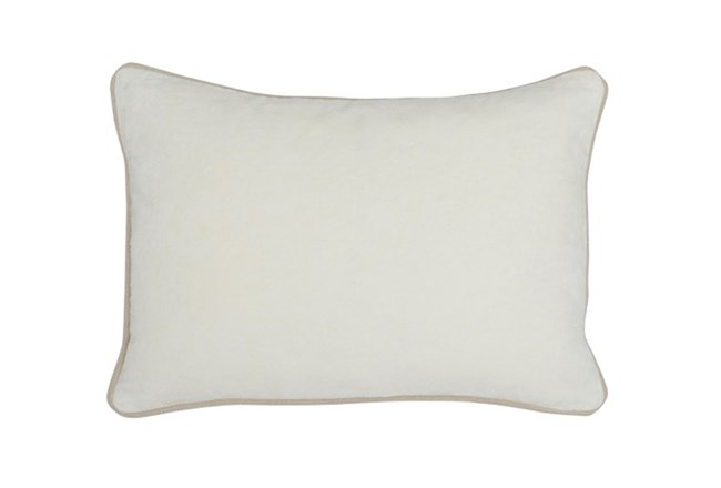 Accent Pillow-Ivory Washed Velvet 20X14 - 360