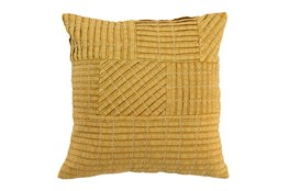 Accent Pillow-Mustard Patchwork 18X18