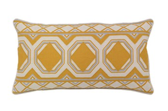 Accent Pillow-Mustard Tiles 26X14