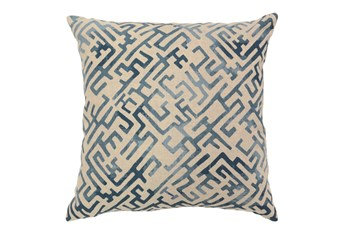 Accent Pillow-Indigo Labyrinth 22X22