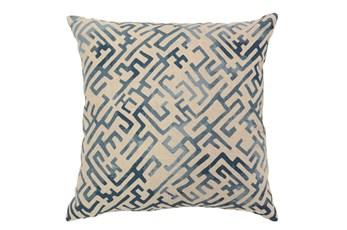 Accent Pillow-Indigo Labyrinth 22X22
