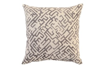Accent Pillow-Taupe Labyrinth 22X22