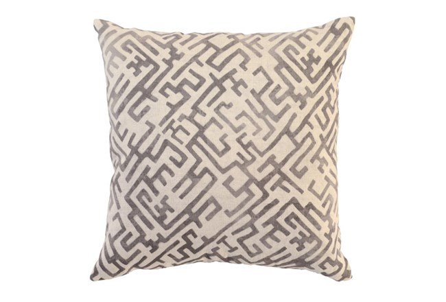 Accent Pillow-Taupe Labyrinth 22X22 - 360