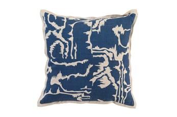 Accent Pillow-Ink Blue Clouds 18X18