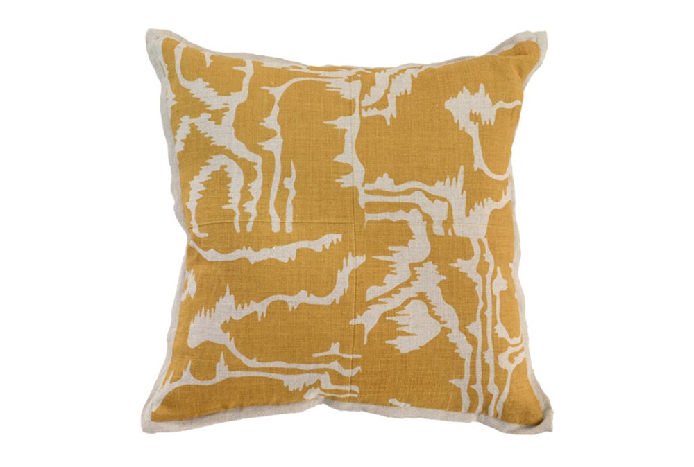 Accent Pillow-Mustard Clouds 18X18