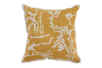 Accent Pillow-Mustard Clouds 18X18