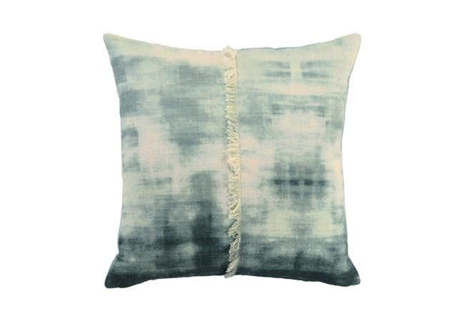 Accent Pillow-Aqua Tie Dye With Fringe 18X18 - 360
