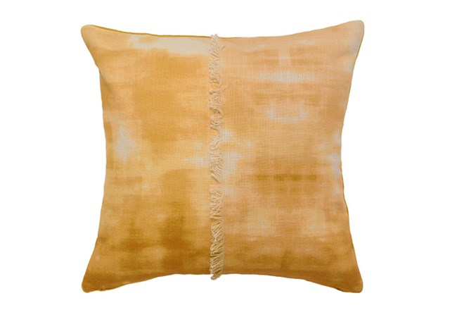 Accent Pillow-Mustard Tie Dye With Fringe 18X18 - 360