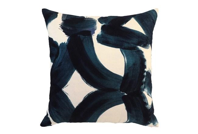 Accent Pillow-Indigo Brushstrokes 22X22 - 360