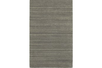 96X120 Rug-Karina Charcoal Wool Stripe