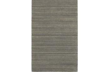 120X156 Rug-Karina Charcoal Wool Stripe