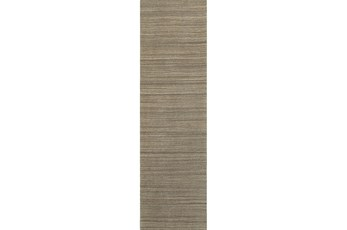 30X96 Rug-Karina Mocha Wool Stripe