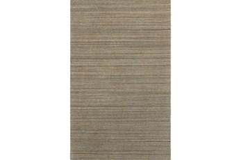 120X156 Rug-Karina Mocha Wool Stripe