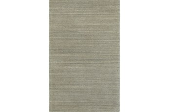 60X96 Rug-Karina Grey Wool Stripe
