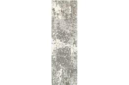 27X90 Rug-Beverly Shag Lt Grey Faded