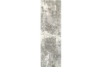 27X90 Rug-Beverly Shag Lt Grey Faded